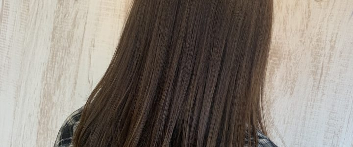 赤味系の髪質でも柔らかく
